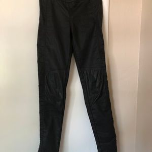 H & M WAXED Moto Leggings